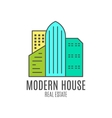 modern house logo design real estate icon vector image