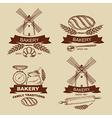 Set of vintage bakery badges and labels vector image