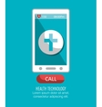 Smartphone online services medical isolated vector image