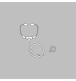 Stethoscope computer symbol vector image