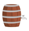 beer wooden barrel icon vector image