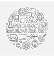 Project Management round vector image