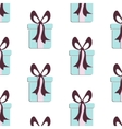 Present pattern Cute paper print with gift vector image