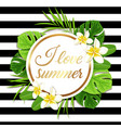 summer round tropical background vector image