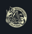 biker gang member riding motorcycle vector image vector image