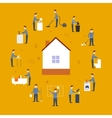 Cleaning people flat vector image