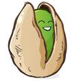 Pistachio Cartoon Character vector image