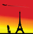 eiffel tower famous vector image