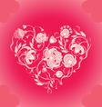 valentin floral design vector image