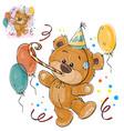 a brown teddy bear in a vector image