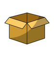 isolated box icon vector image