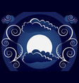 mystic moon background vector image