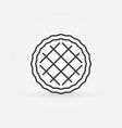 pie outline icon in thin line style vector image
