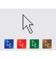 Pixel arrow icons vector image
