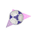 soccer ball - geometric modern realistic vector image