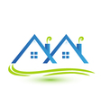 Townhouses real estate logo vector image