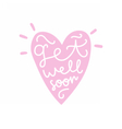 Get well soon Heart silhouette with text vector image
