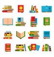 flat books set vector image