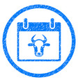 cow calendar page rounded grainy icon vector image