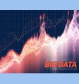 abstract big data visualization vector image