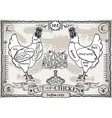Vintage Pageof English Cut of Chicken vector image