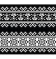 Ukrainian Slavic seamless folk embroidery pattern vector image vector image