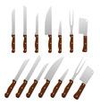 Set of kitchen knifes Vector Image