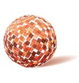 Orange technology sphere vector image vector image