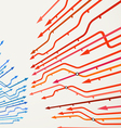 Abstract background of metro lines vector image vector image