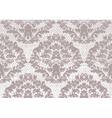 Baroque floral Damask pattern background vector image