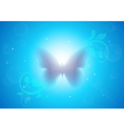 Butterfly on the background glow vector image