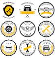 Car service Auto parts tools Icons set vector image
