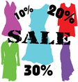 dress on sale color vector image