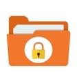 folder lock icon vector image
