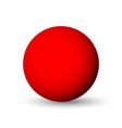 red sphere ball or orb 3d object with vector image
