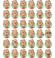 set of blond young boy emojis vector image