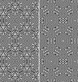 Set of Two Seamless Patterns vector image