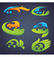 ecological transport cars and transport vector image vector image