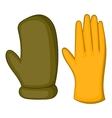 Work gloves icon cartoon style vector image