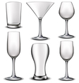 Empty glass set vector image