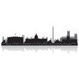 Washington USA city skyline silhouette vector image vector image