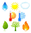 Nature Eco Set vector image
