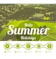 Hello summer holidays vector image vector image