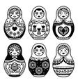 Matryoshka Russian doll icons set vector image vector image