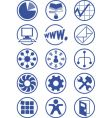 business services icons vector image