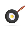 Frying pan with fried eggs vector image vector image