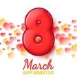 International Women Day March 8 volume eight vector image