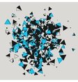 abstract background with triangles vector image