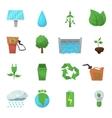 Ecology Flat Icon Set vector image