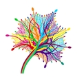 colorful abstract leaf vector image